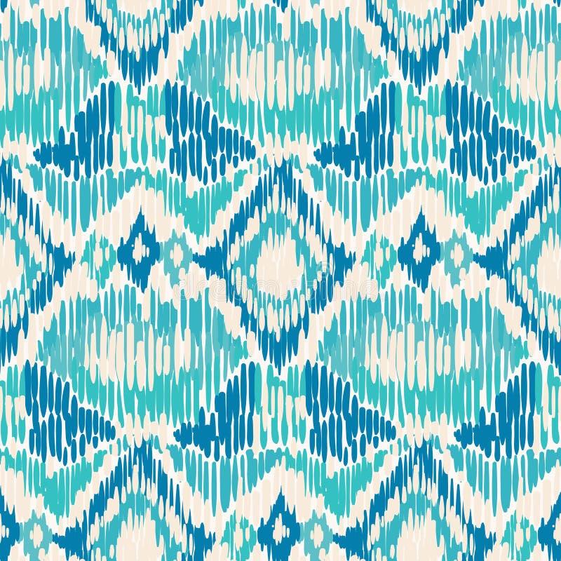 Seamless Ikat Pattern. vector illustration