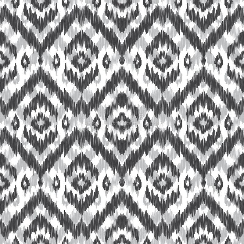 Seamless ikat pattern. stock illustration