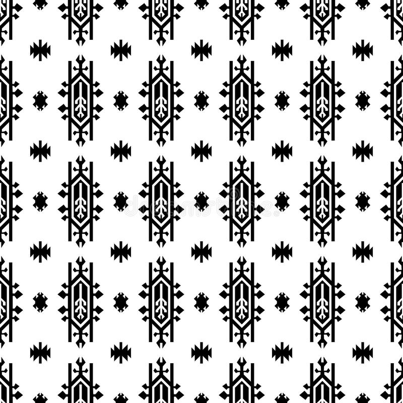 Seamless Indian pattern vector USA Native American type geometric ornaments vector illustration
