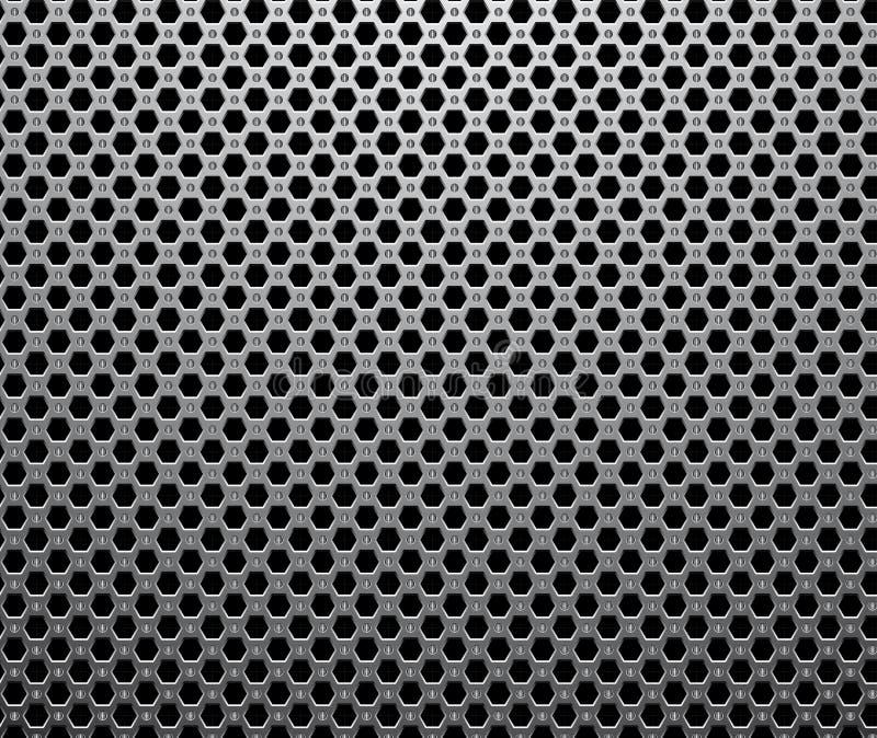 seamless industriell metallisk modell vektor illustrationer