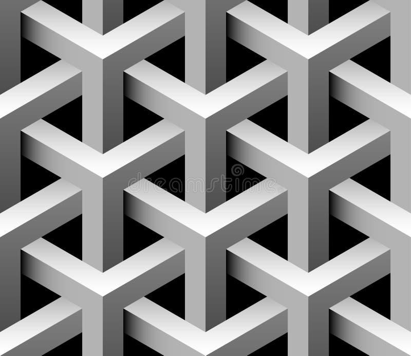 seamless industriell modell 3d vektor illustrationer