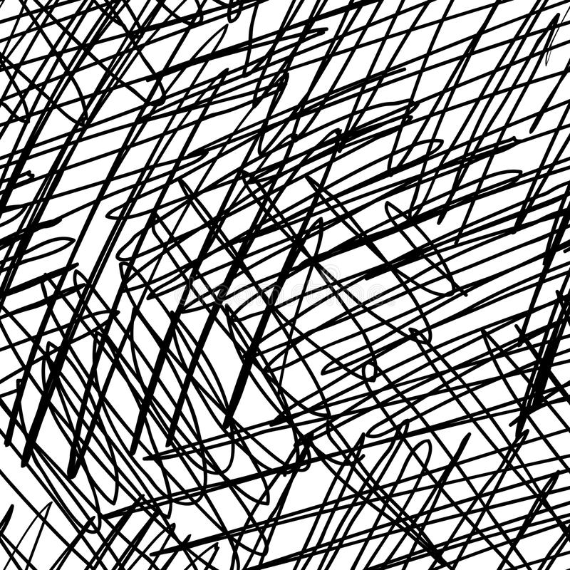 Seamless ink hand drawn scribble texture. Abstract graphic design vector illustration
