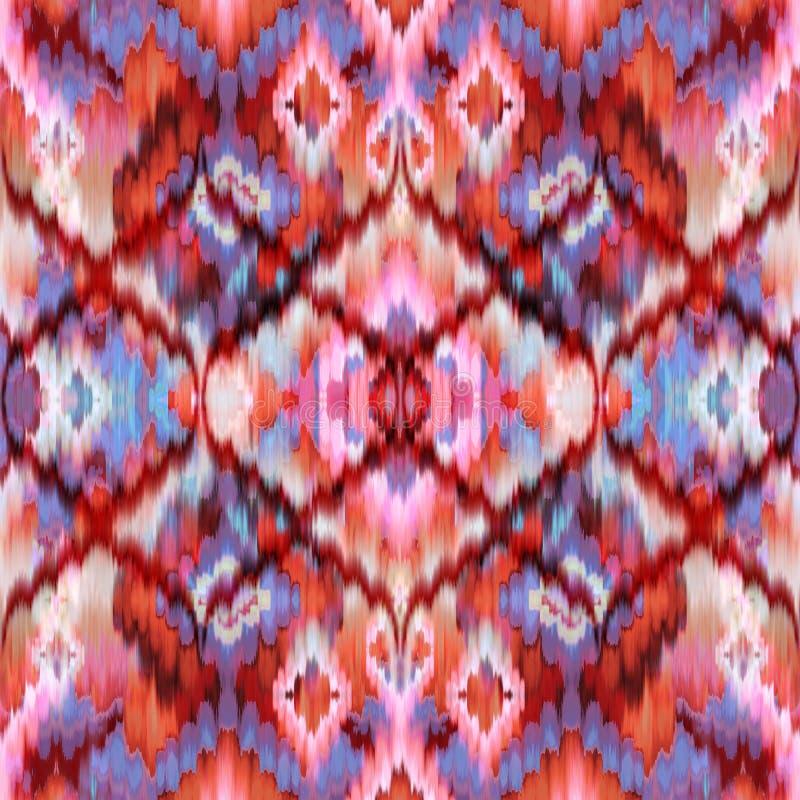 Seamless intricate ikat pattern background vector illustration