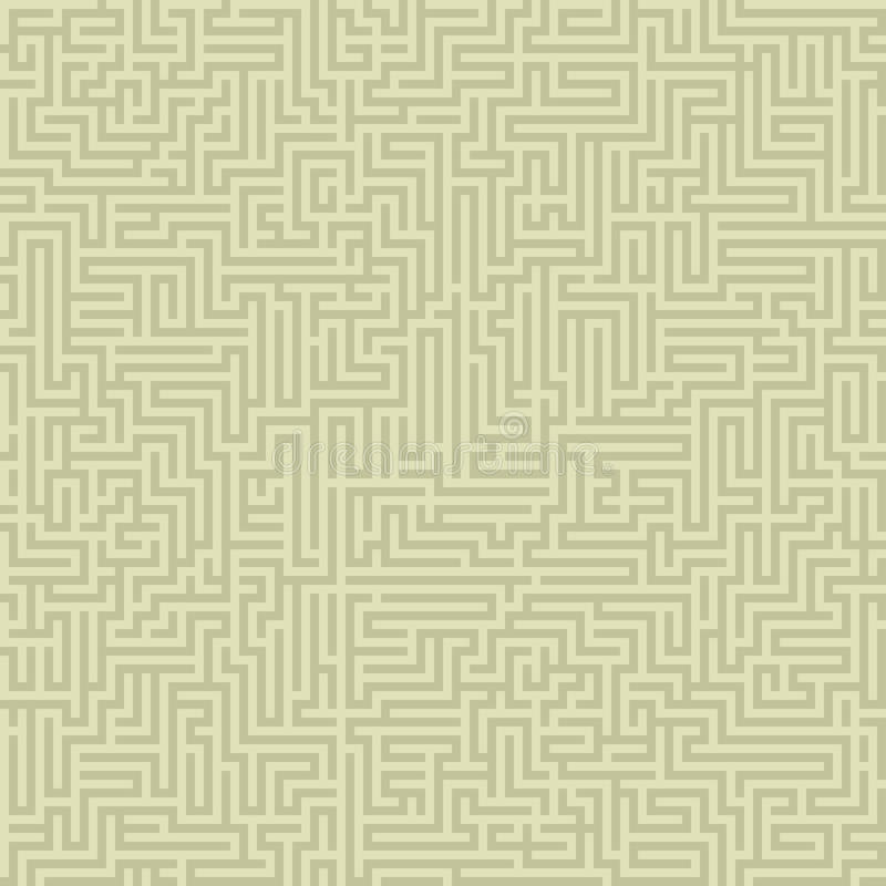 Seamless intricate maze royalty free illustration