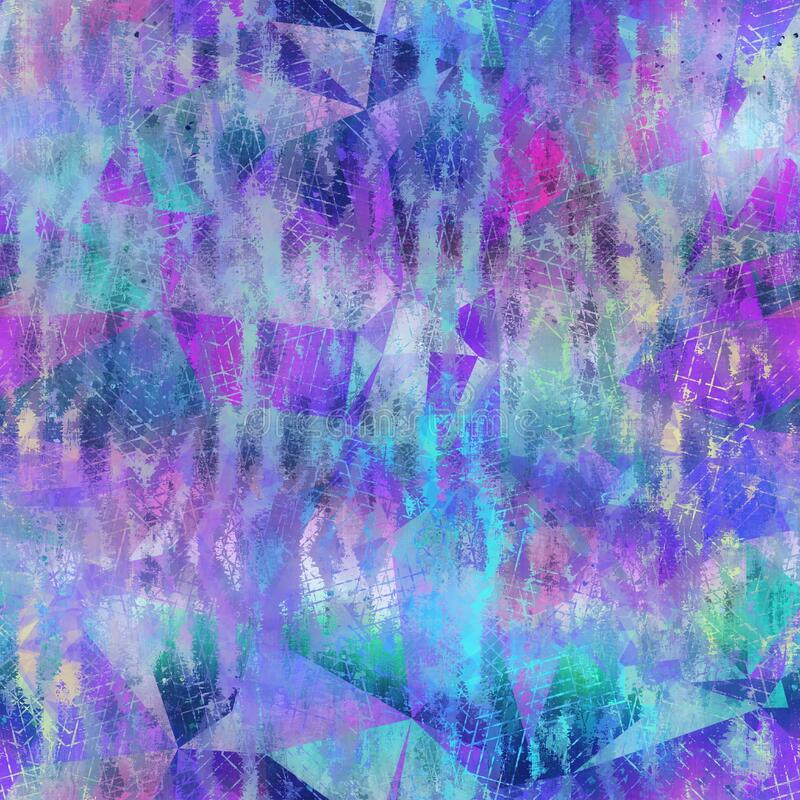 Free Seamless Iridescent Rainbow Light Pattern For Print Royalty Free Stock Images - 215413259