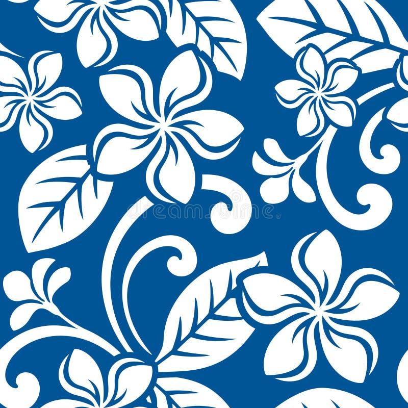 Seamless Island Plumeria Pattern vector illustration