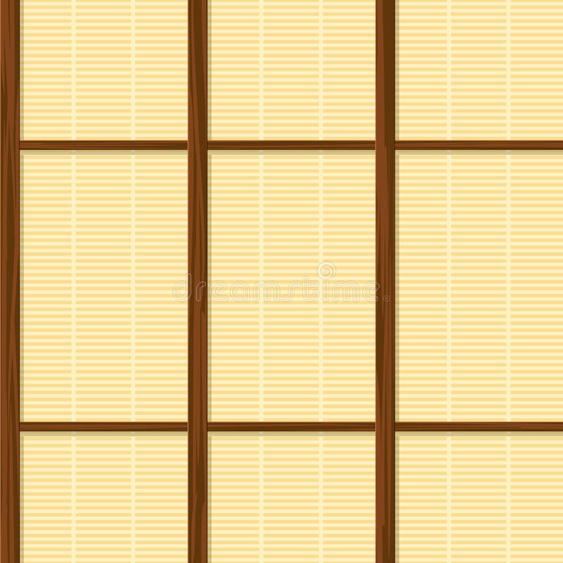 Seamless Japan Paper House Wall Texture Stock Vector