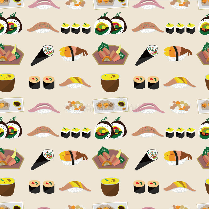 Download Seamless Japanese Food Pattern Stock Vector - Illustration of abstract, illustration: 19844060
