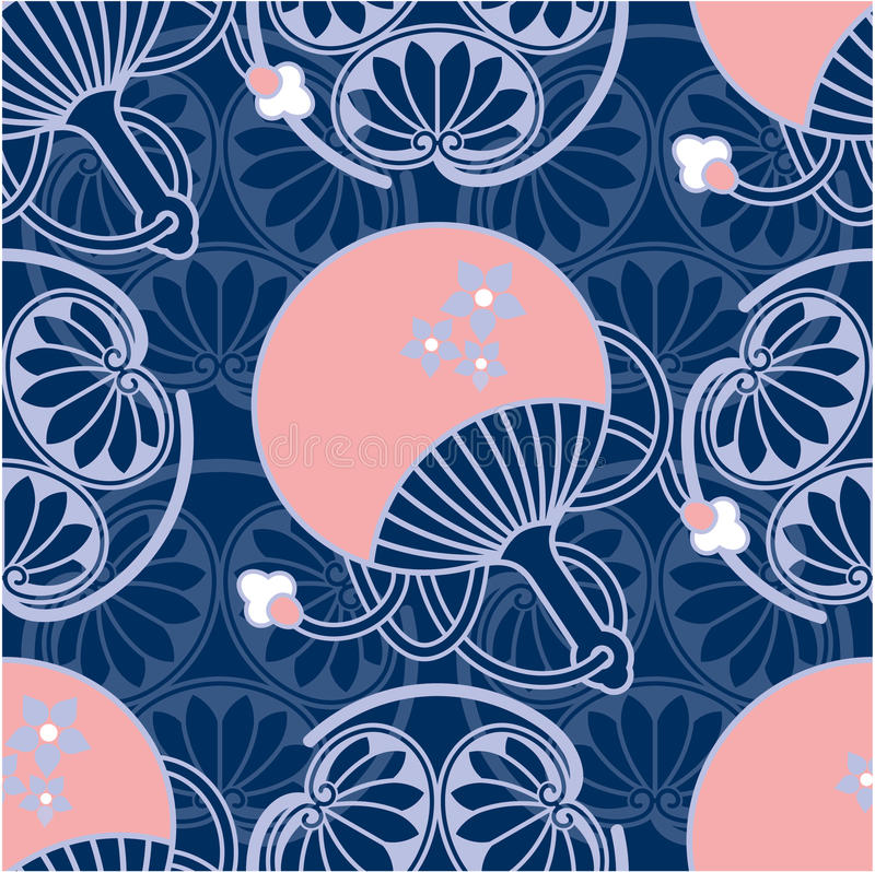 seamless japansk orientalisk modell vektor illustrationer