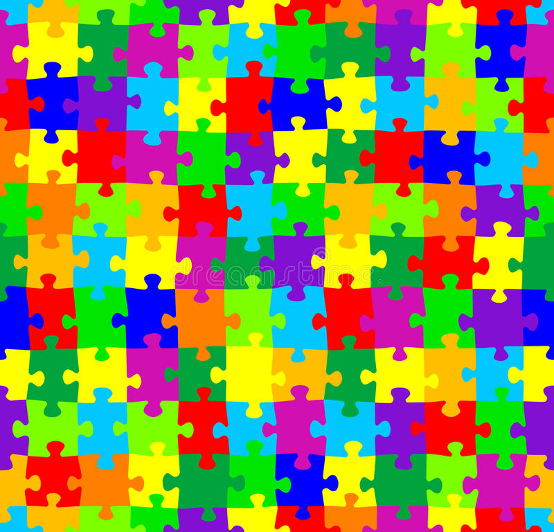 Seamless Jigsaw Puzzle Pattern Stock Vector - Illustration ...
