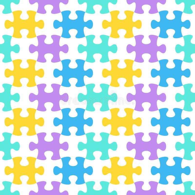 seamless jigsawmodellpussel stock illustrationer