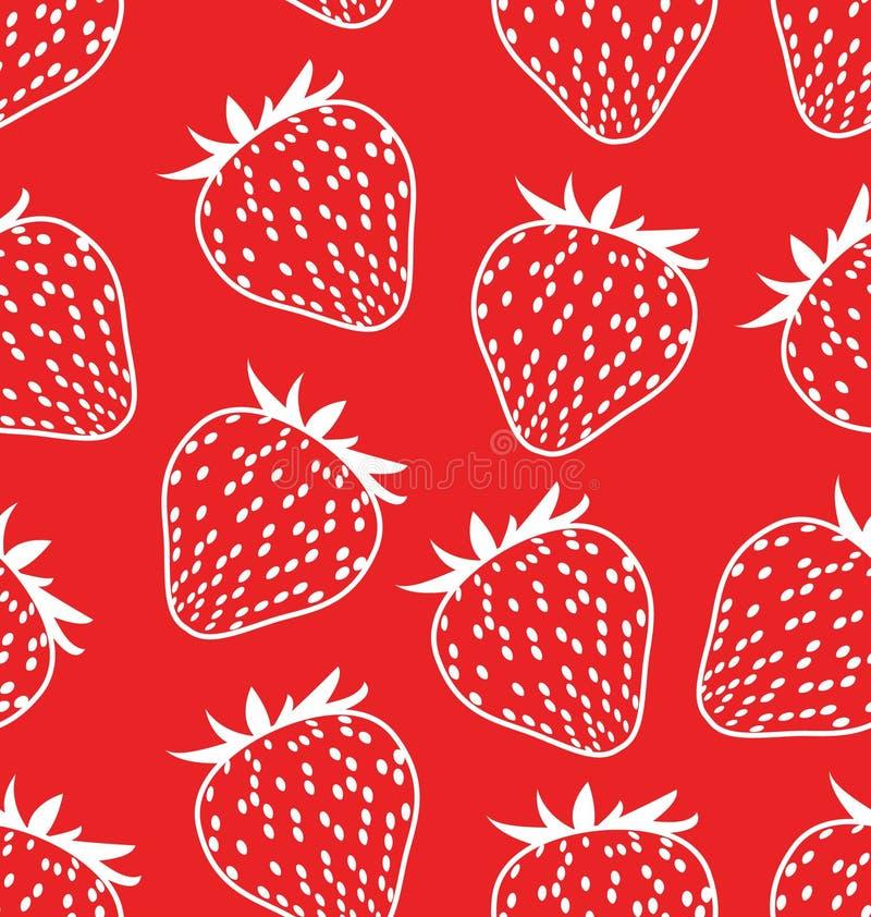 seamless jordgubbar för bakgrund vektor illustrationer