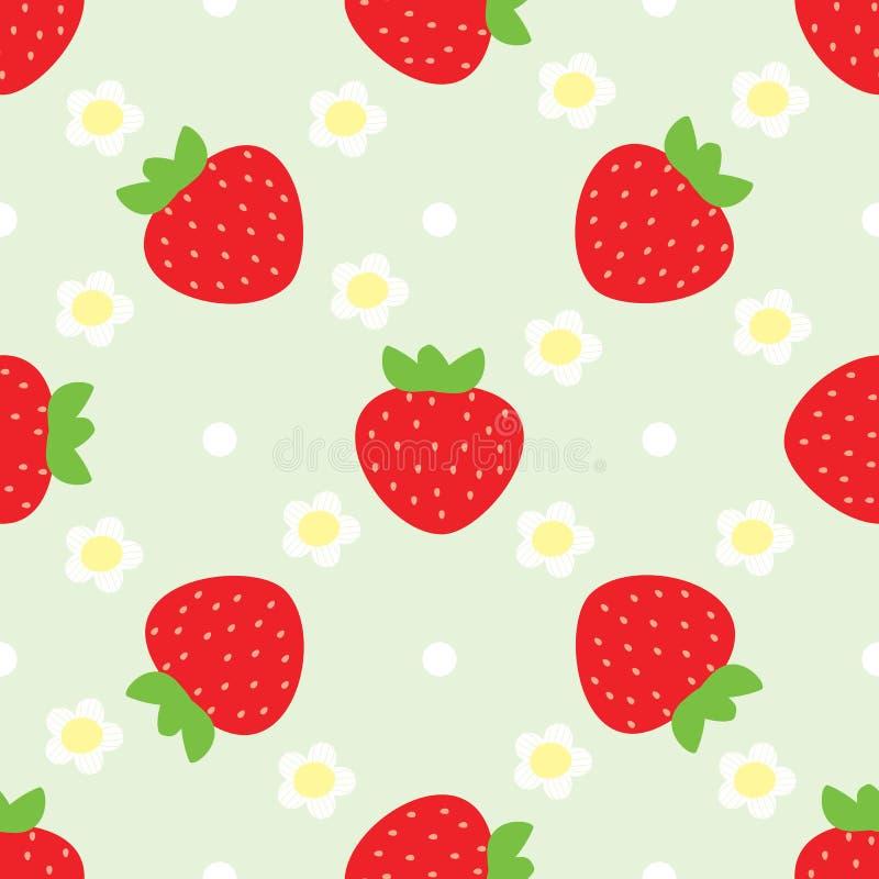 seamless jordgubbe för modell royaltyfri bild
