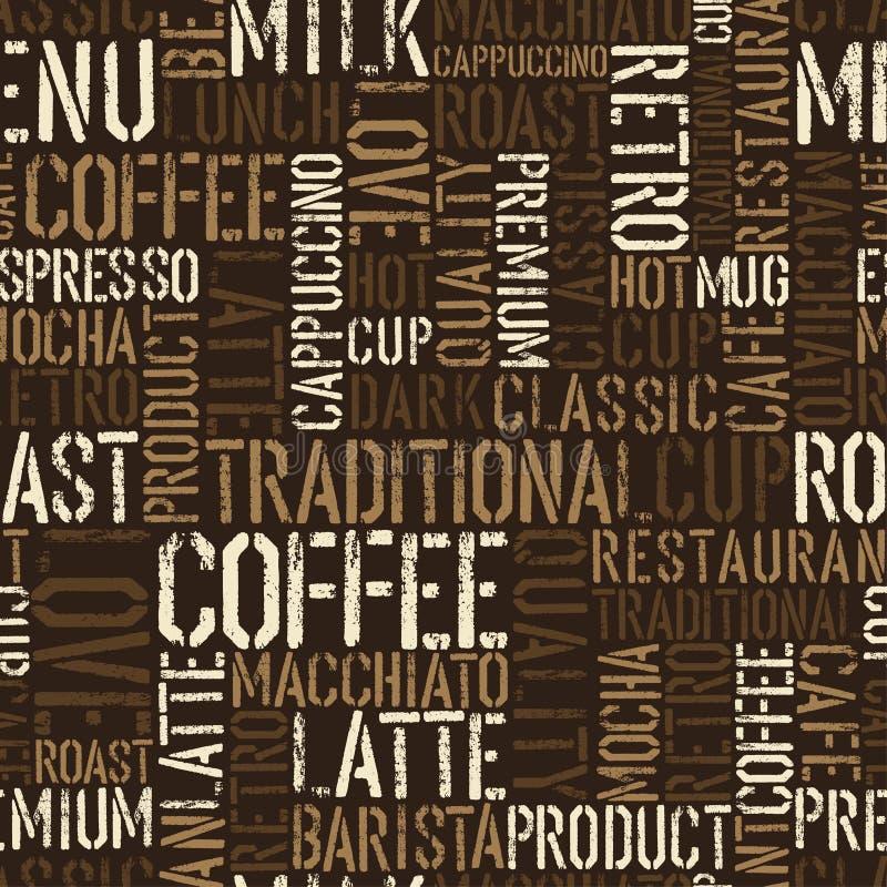 Seamless kaffeerfarenhetsmodell. vektor illustrationer