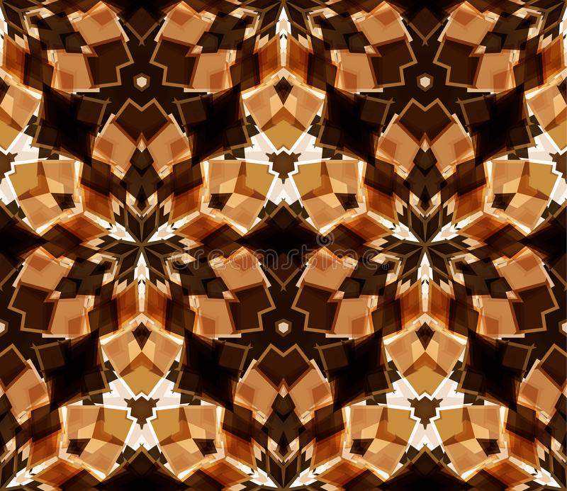 seamless kaleidoscopemodell Komponerat av färgabstrakt begreppformer vektor illustrationer