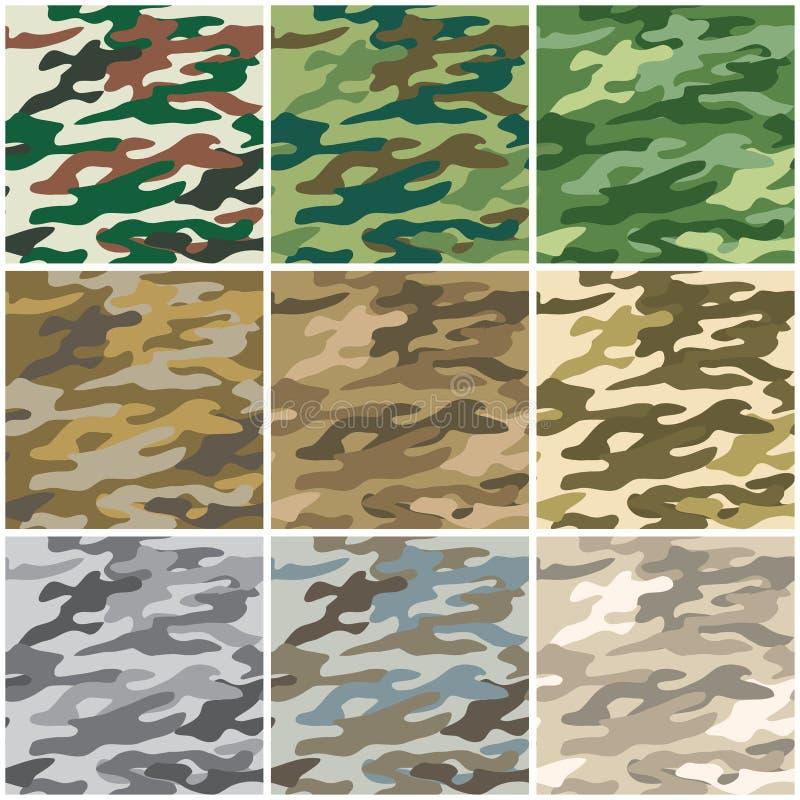 seamless kamouflage vektor illustrationer
