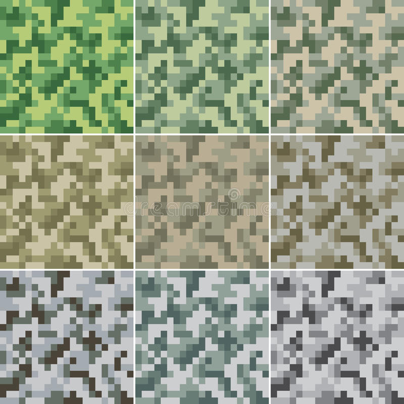 seamless kamouflage stock illustrationer