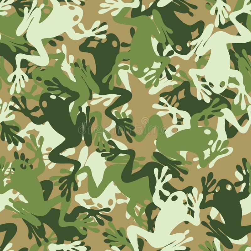 seamless kamouflagegrodamodell royaltyfri illustrationer