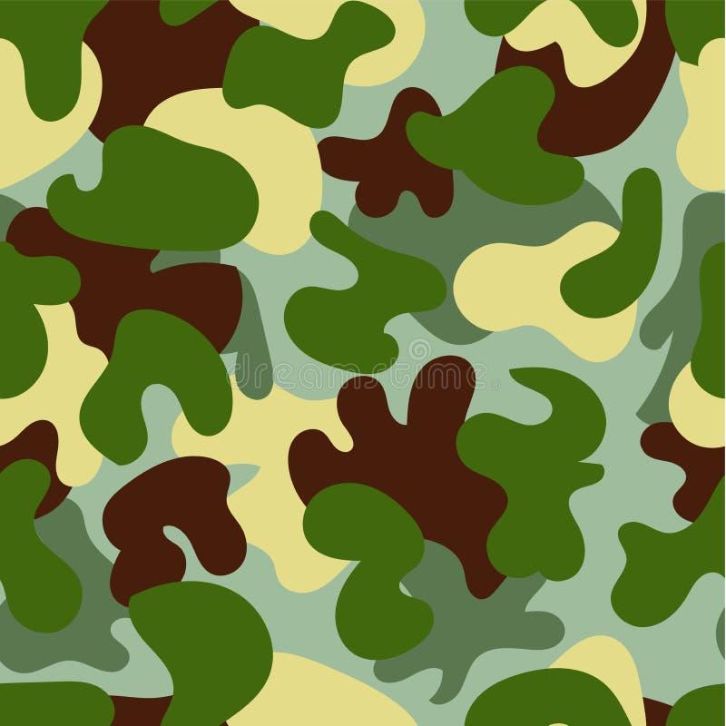 seamless kamouflagemodell Skogsmarkstil vektor illustrationer