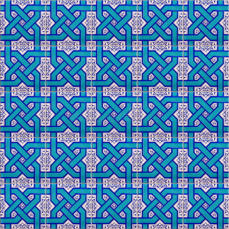 Seamless keramiskt islamiskt belägger med tegel royaltyfria foton