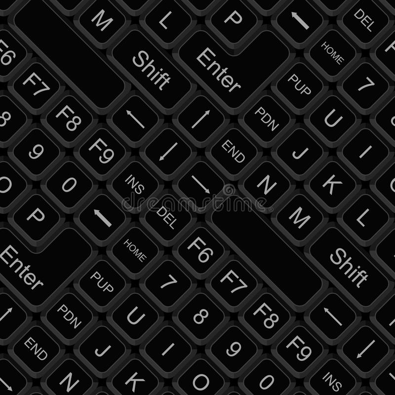 Download Seamless keyboard pattern stock vector. Illustration of plastic - 43410947