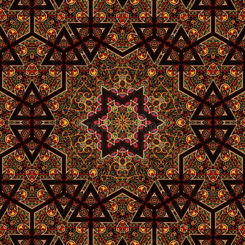Seamless khayameya pattern design 034 stock photo image for Arabesque style decoration