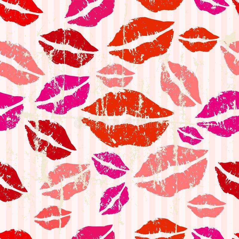Seamless kiss background vector illustration