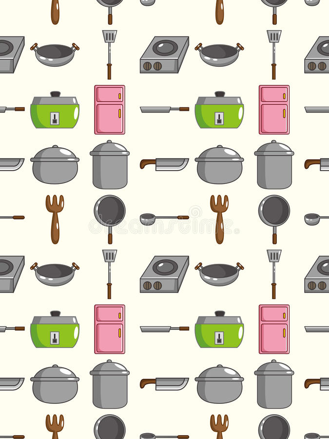 Download Seamless Kitchen pattern stock vector. Illustration of dish - 27858400