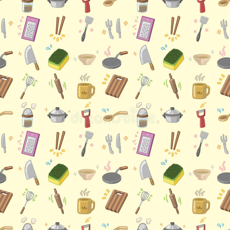 Seamless Kitchen Pattern Stock Photo