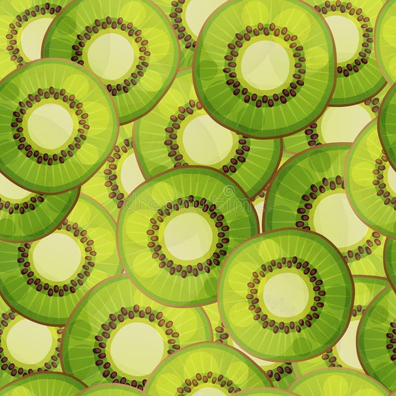 Seamless kiwi fruit pattern. Cartoon vector illustration stock illustration