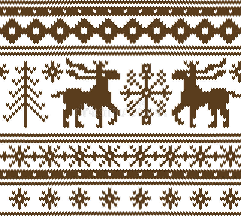 Seamless knitted christmas pattern stock illustration