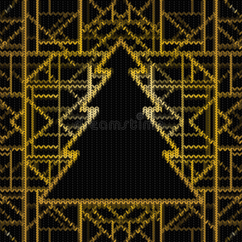 Seamless knitted Christmas pattern, vector illustration. Art dec vector illustration