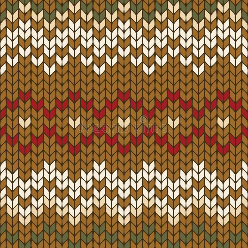 Seamless knitted geometric pattern, vector stock illustration