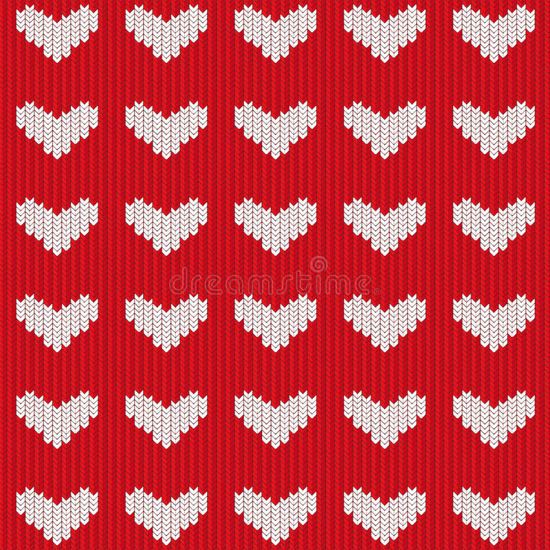 Download Seamless knitted heart stock photo. Image of repetition - 12337058