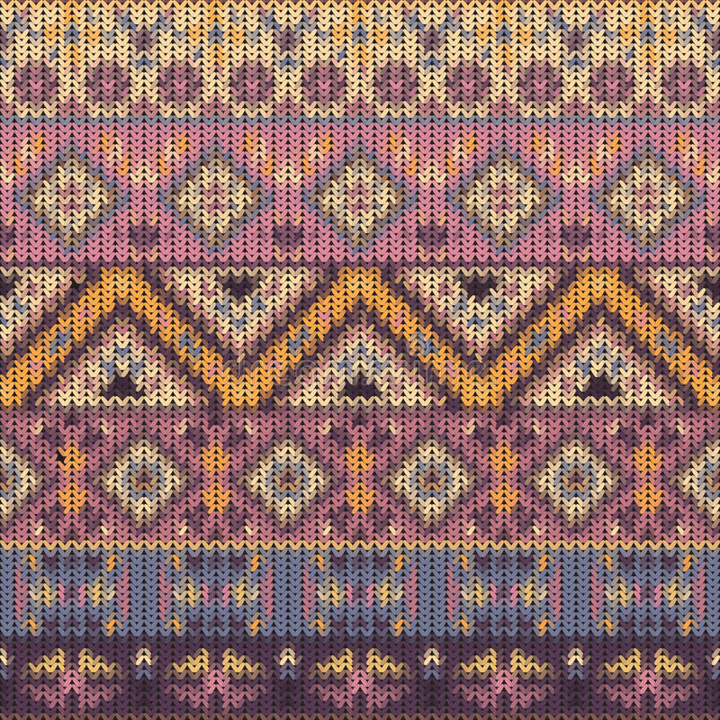 Seamless knitted navajo pattern vector illustration
