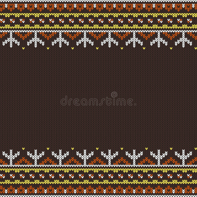 Seamless knitted ornament royalty free illustration