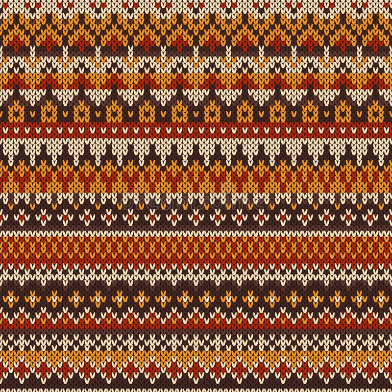 Seamless Knitted Pattern In Fair Isle Style Stock Vector