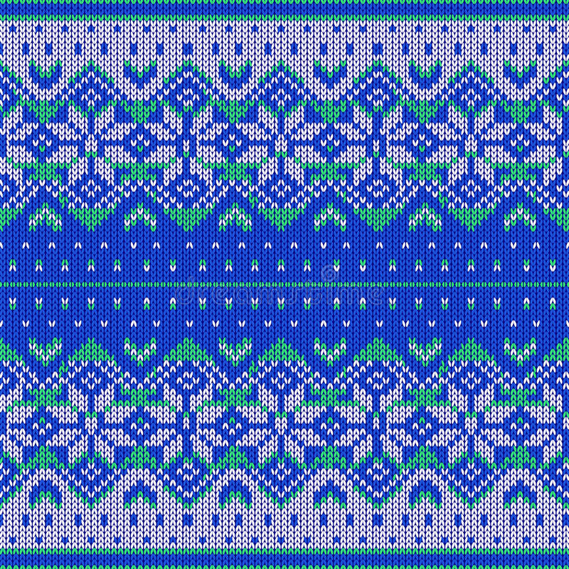 Seamless knitted pattern royalty free stock photography