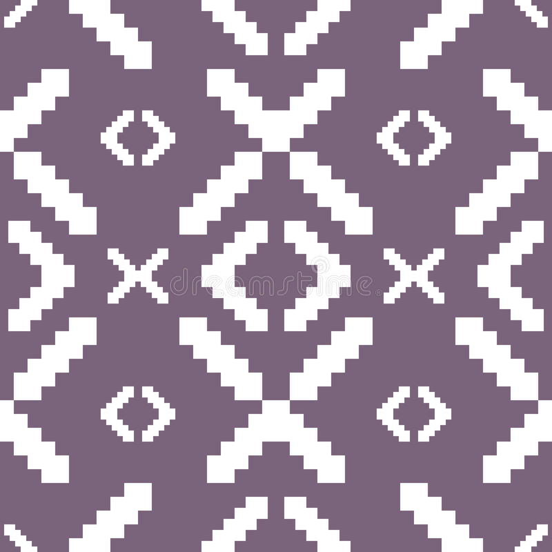 Seamless knitted pattern in muted purple color vector illustration