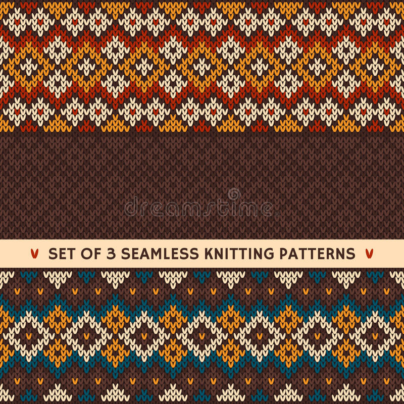 Seamless knitted pattern. Vector background vector illustration