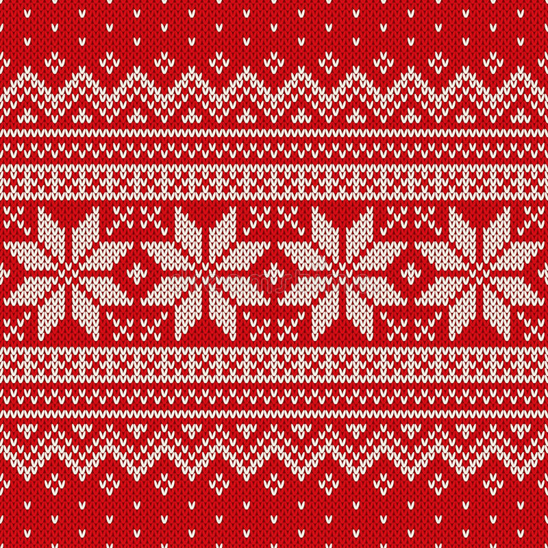 Seamless knitted pattern. Wool Sweater Design stock photo