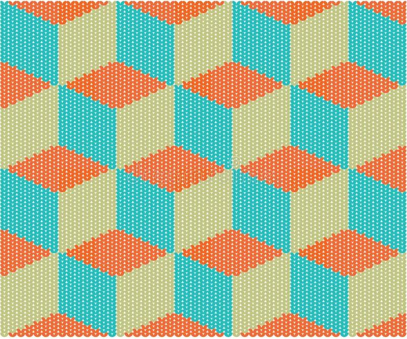 Download Seamless knitted texture stock illustration. Illustration of seasonal - 23672697
