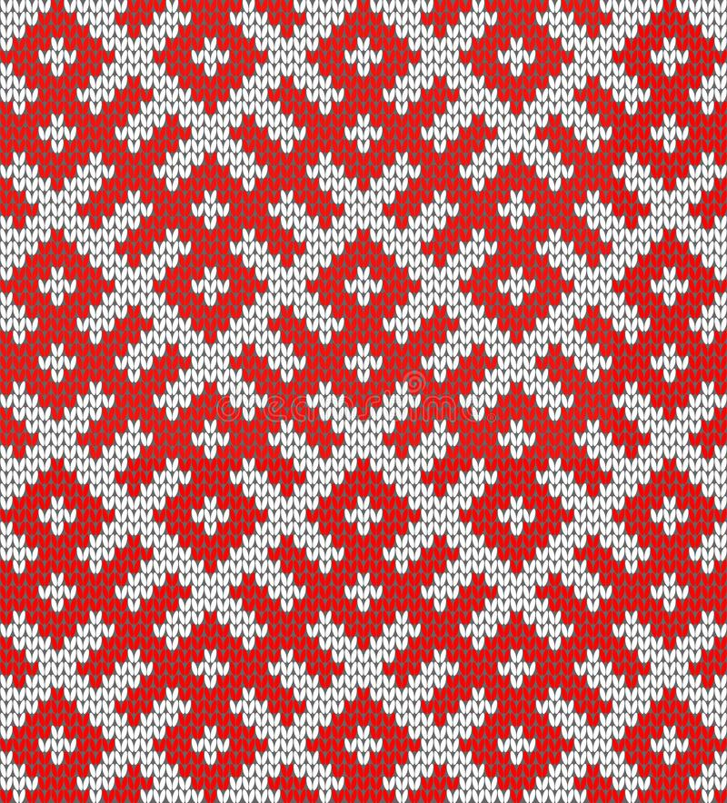 Seamless Knitting Pattern.Based on traditional Russian ornament stock illustration