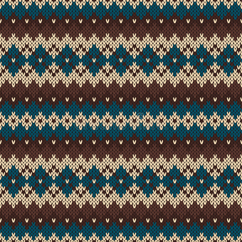 Seamless Knitting Pattern In Traditional Nordic Fair Isle Style ...