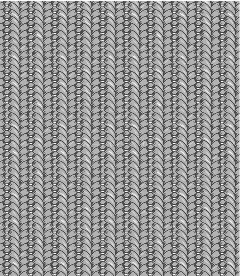 seamless kupor för grått stickmönster stock illustrationer