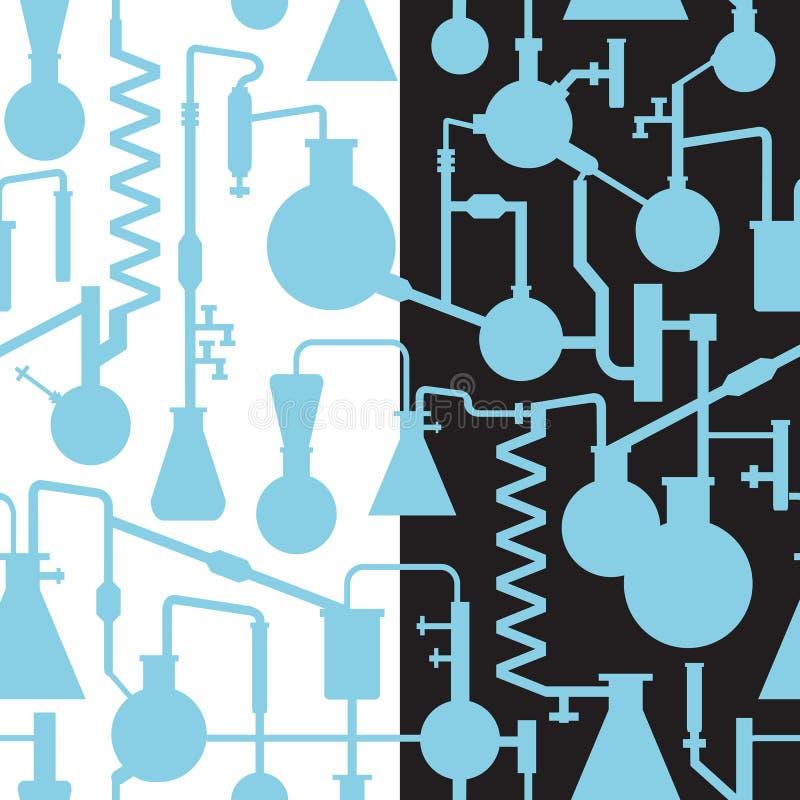 Seamless lab patttern royalty free illustration