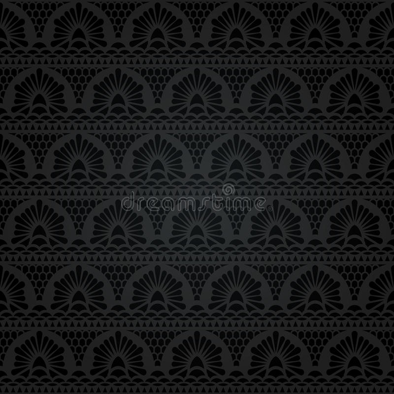 Seamless lace. Abstract floral pattern vector illustration