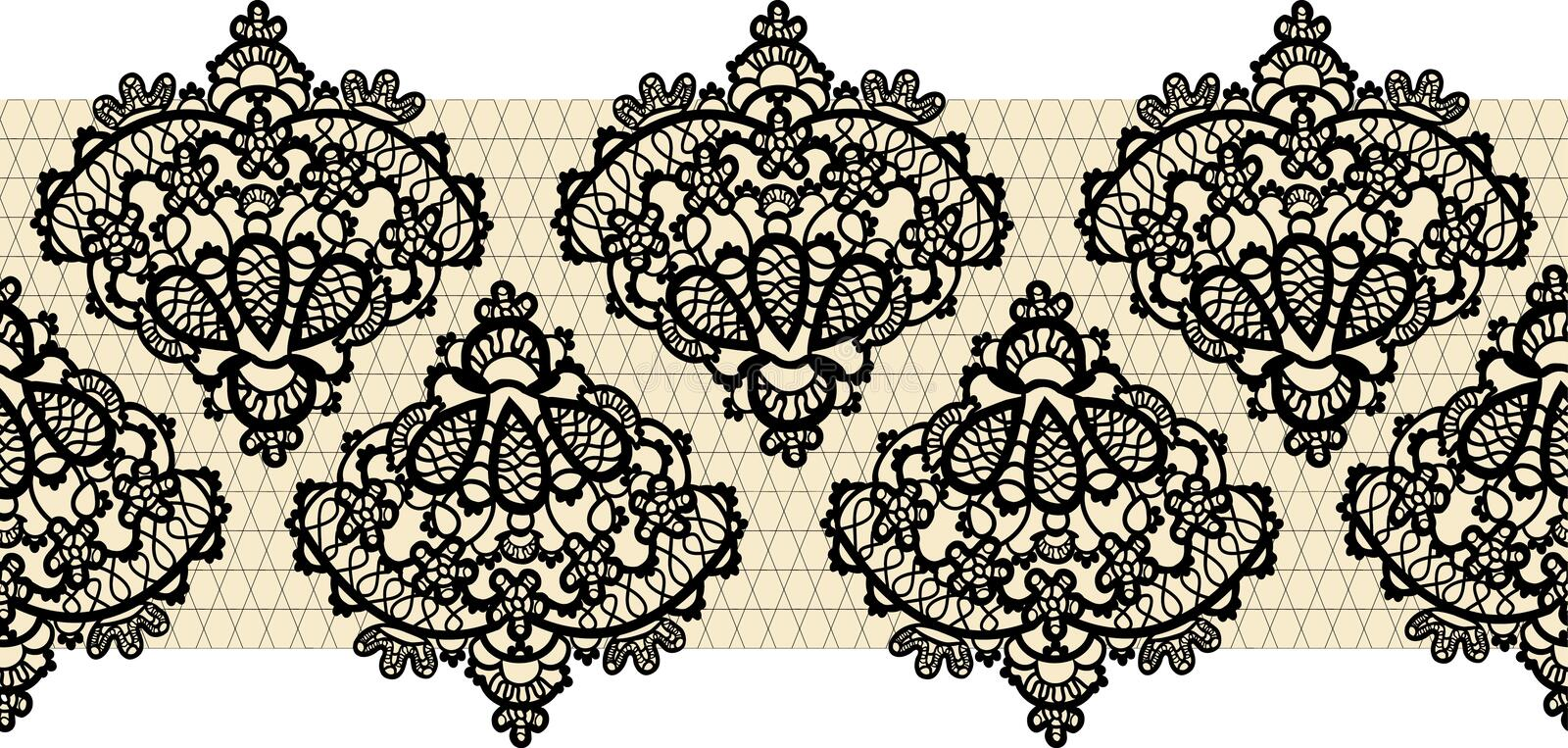 Seamless lace border vector illustration