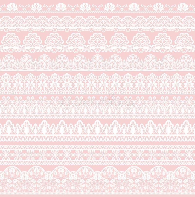 Seamless lace border vector illustration