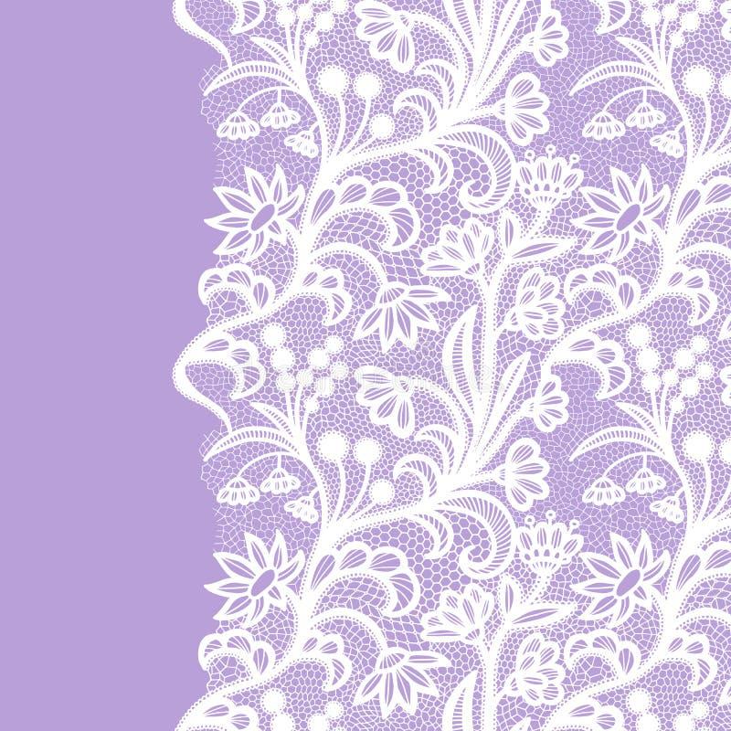 White vintage lace elegant lace. Lacy border stock illustration